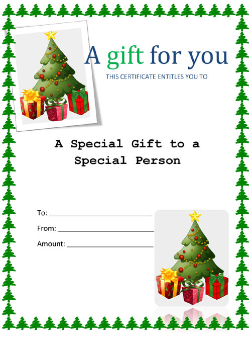 Printable Christmas Gift Tag Template Word – Printable Christmas Gift Certificates Templates Free