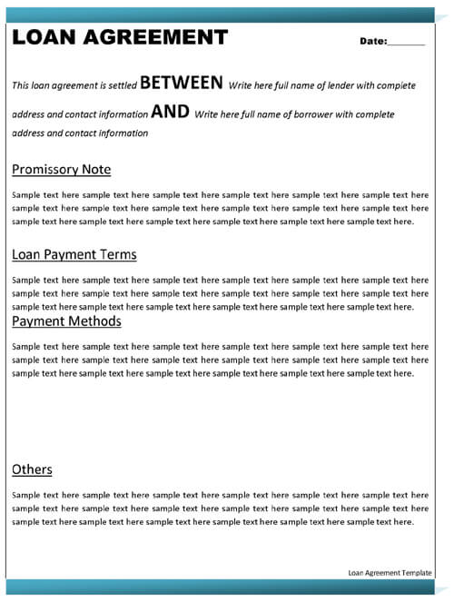 Sample Partnership Agreement Template Word
