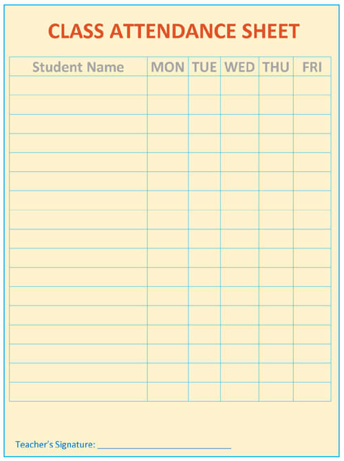 Attendance List Template Meeting Attendance Sheet Attendance List